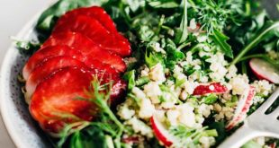 Avocado, Strawberry and Cucumber Quinoa Salad