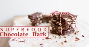 Easy Superfood Chocolate Bark