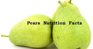 Pears Nutrition Facts: Nutrition Information Of 100 G Serving Of Pear