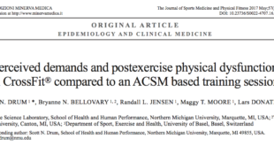 Postexercise Physical Dysfunction in CrossFit® & ACSM Training