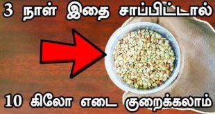 3 நாட்களில் 10 கிலோ எடை குறைய இதை சாப்பிடுங்க | Weight Loss Tips  |  Tamil Health Tips  | tamil tips