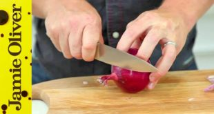 How To - Chop an Onion Without Using Crystals | Jamie Oliver