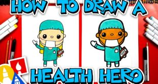 How To Draw Health Heroes - Doctors and Nurses  - #stayhome and draw #withme