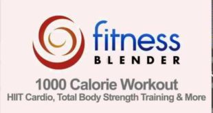 Fitness Blender's 1000 Calorie Workout at Home HIIT Cardio, Total Body Strength Training +