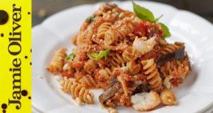 Tomato, Aubergine & Ricotta Pasta   Jamie Oliver   Everyday Super Food