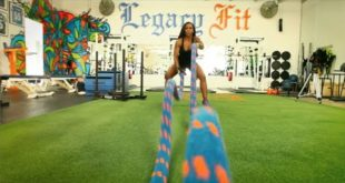 Intense Battle Ropes Workout for Women - with Celebrity Fitness Trainer Nicole Chaplin