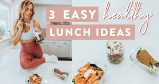 3 EASY HEALTHY Lunch Ideas for Work & School | Quick Meal Prep
