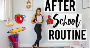 After School Workout Routine & Healthy Snack Recipes