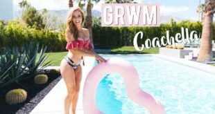 GRWM Coachella | Outfits & Bikini Try on + Tanning Routine & Giveaway!