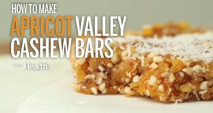 How To Make Apricot Vanilla Cashew Bars   Health