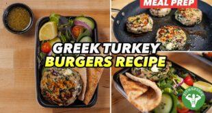 Meal Prep - Mediterranean Greek Turkey Burgers