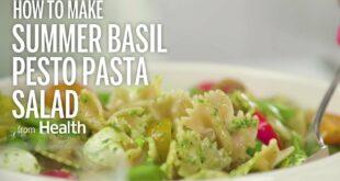 Summer Basil Pesto Pasta Salad | Health
