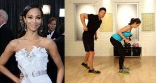 Zoe Saldana Upper-Body Workout | Celebrity Fitness | Get the Bod