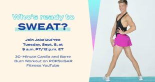 30-Minute LIVE Cardio and Barre Burn Workout With Jake DuPree