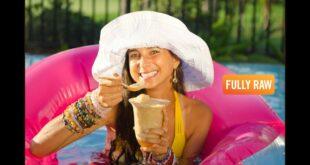 Fat-Free Raw Vegan Banana Ice Cream Floats!