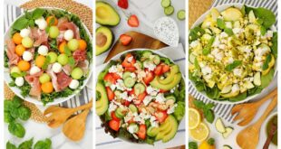 3 Fresh Summer Salads | No Cook Recipes + Healthy + Easy
