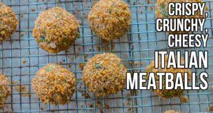 Crispy, Crunchy Italian Meatballs  /  Albóndigas Italianas Crujientes