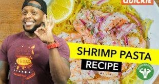 Healthy Creamy Shrimp Pasta Recipe / Pasta Cremosa sin Lácteo con Camarón