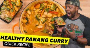 Healthy Panang Curry Recipe / Receta Tailandesa de Curry Panang
