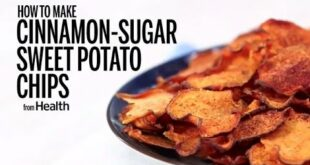 How to Make Cinnamon-Sugar Sweet Potato Chips| Health