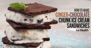 How to Make Ginger-Chocolate Chunk Ice Cream Sandwiches