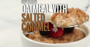 How to Make Steel-Cut Oatmeal with Salted Caramel Topping
