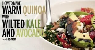 How to Make Warm Quinoa with Wilted Kale and Avocado