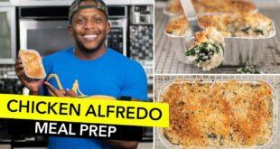 MEAL PREP: Low-Carb Chicken Alfredo Bake Recipe / Pollo Alfredo al Horno Bajo en Carbohidratos