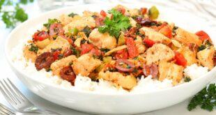 Mediterranean Chicken & Rice   20 Minute Dinner Idea   Healthy + Easy Recipes