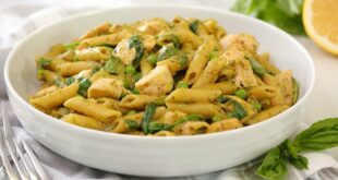 One Pot Pesto Chicken Penne | Quick + Easy Pantry Recipe | Cook With Me