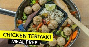 Teriyaki Chicken Meatballs Meal Prep / Alboóndigas de Pollo con Salsa Teriyaki