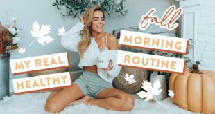 My Real HEALTHY Fall Morning Routine | How I Stay Productive + Breakfast Burrito Recipe